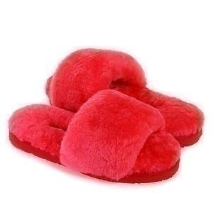 Угги UGG Fluff Slide Slippers Watermelon Red