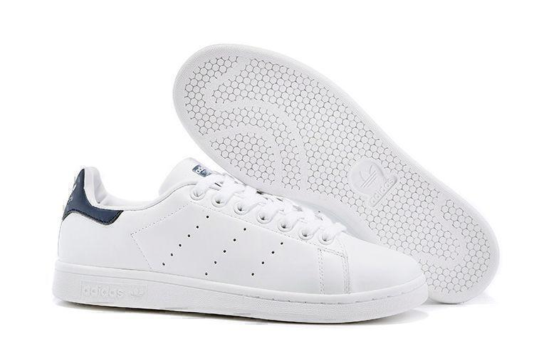 Кроссовки Adidas Stan Smith (White White/Deep Blue) фото в «GetKeds»