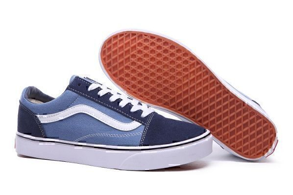 Кеды Vans Old Skool Low (Blue/White) фото в «GetKeds»