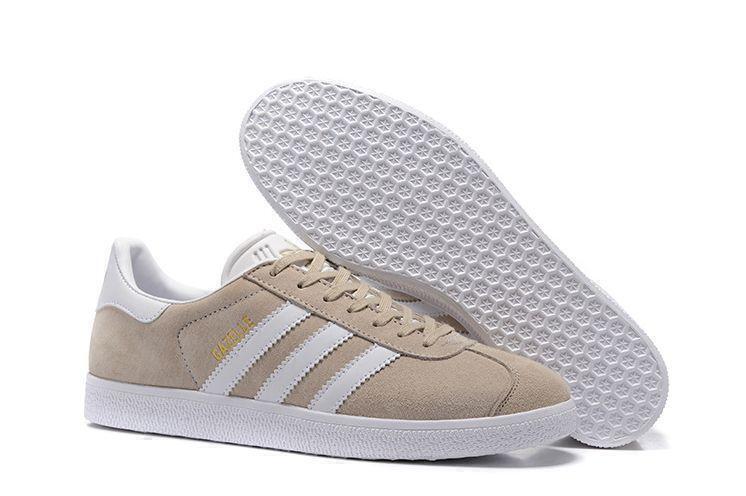 Кроссовки Adidas Gazelle (Beige/White) фото в «GetKeds»