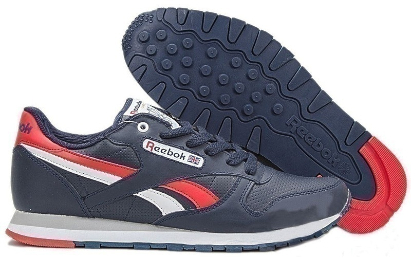 Reebok Classic Leather (Dark Blue/White/Red) фото #1 в «GetKeds»