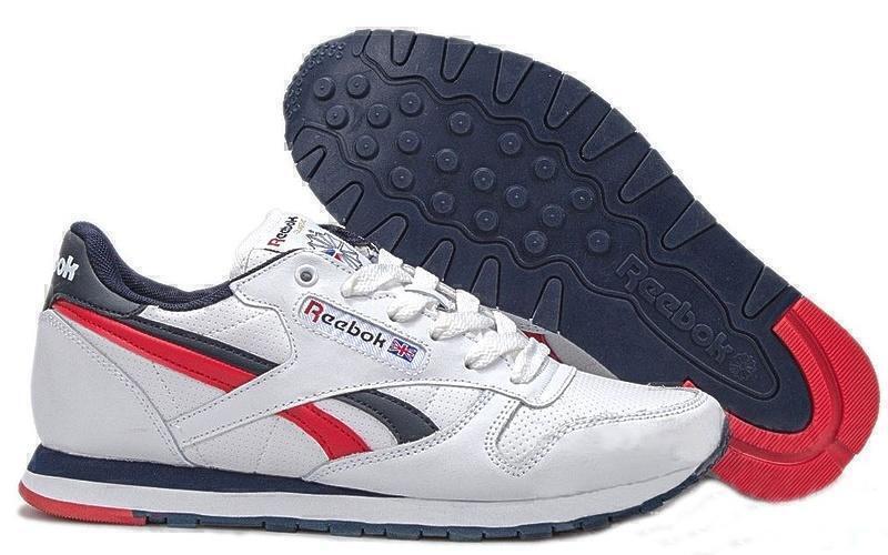 Reebok Classic Leather (White/Blue/Red) фото #2 в «GetKeds»