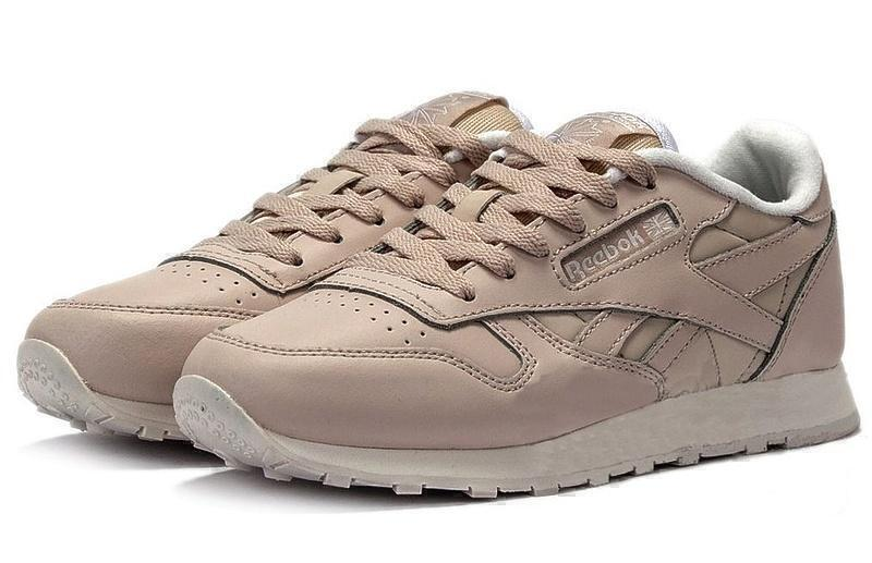 Кроссовки Reebok Classic Leather (Light Beige) фото в «GetKeds»