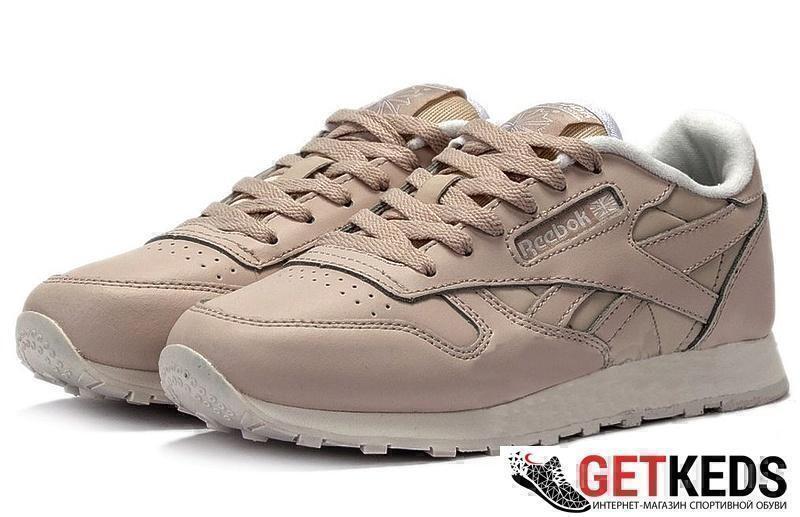 Кроссовки Reebok Classic Leather (Light Beige) фото в «GetKeds»