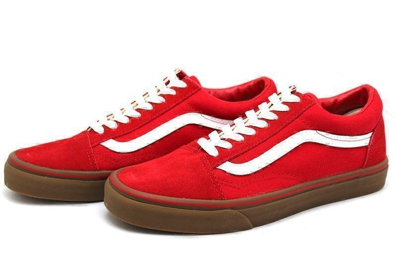 Vans Old Skool (Red/White/Brown) фото #2 в «GetKeds»
