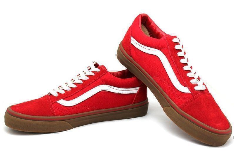 Vans Old Skool (Red/White/Brown) фото #3 в «GetKeds»