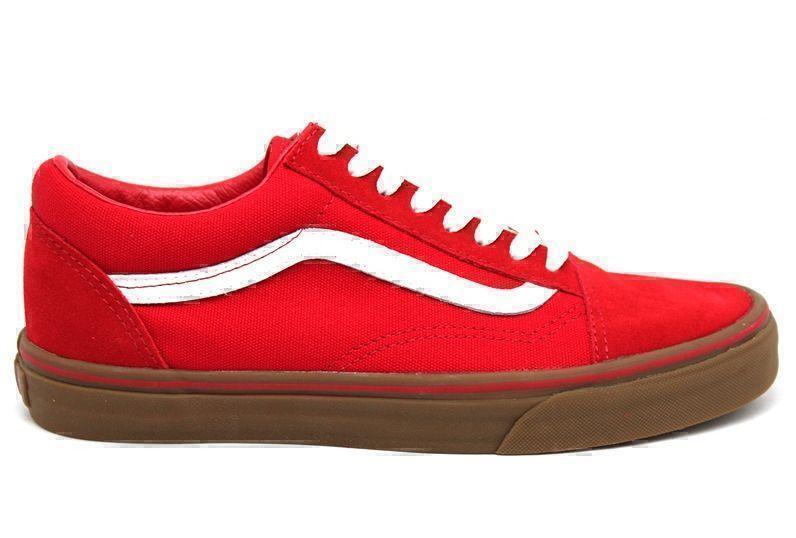 Кеды Vans Old Skool (Red/White/Brown) фото в «GetKeds»