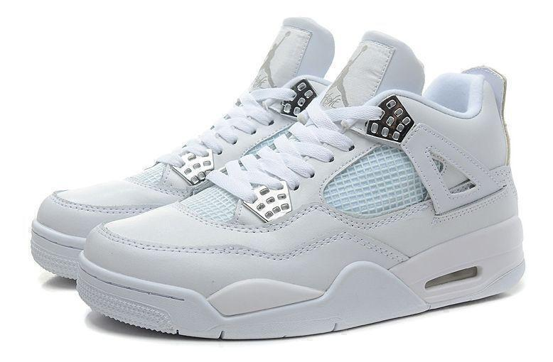 Кроссовки Air Jordan 4 Retro (White) фото в «GetKeds»