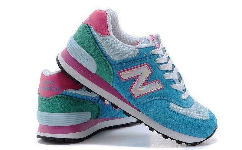 New Balance 574 Hologram (Blue/Pink) фото #2 в «GetKeds»