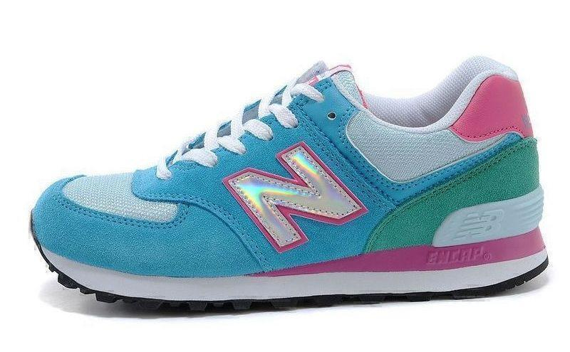 New Balance 574 Hologram (Blue/Pink) фото #3 в «GetKeds»