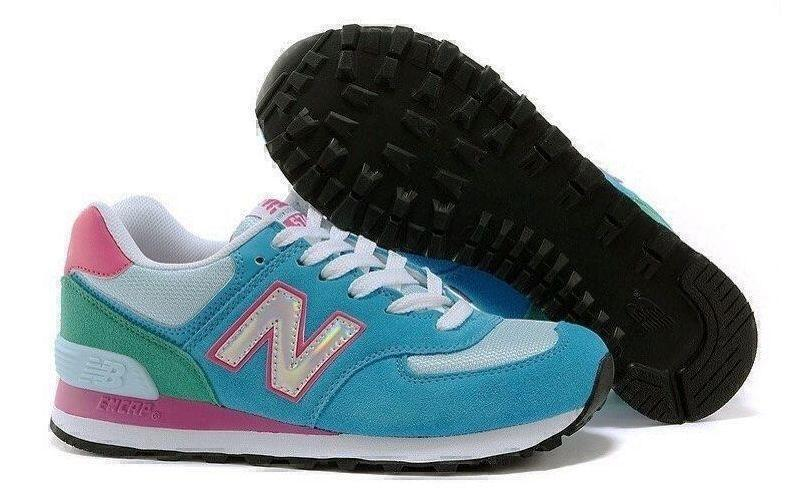 Кроссовки New Balance 574 Hologram (Blue/Pink) фото в «GetKeds»
