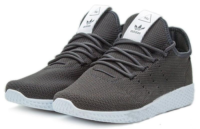 Adidas x Pharrell Williams Tennis Hu (Black/White) фото #2 в «GetKeds»