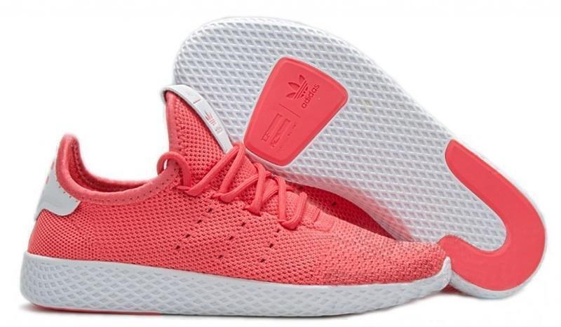 Кроссовки Adidas x Pharrell Williams Tennis Hu (red/White) фото в «GetKeds»