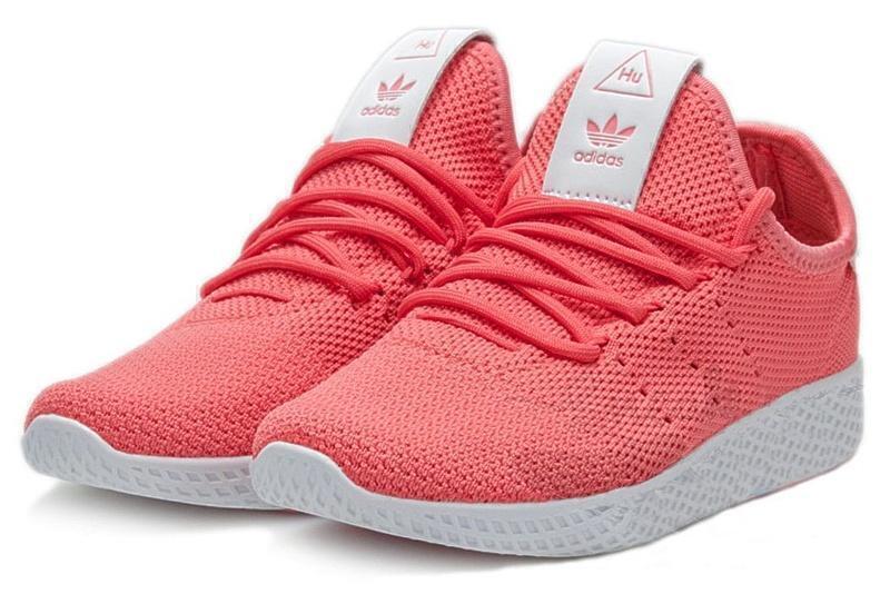 Adidas x Pharrell Williams Tennis Hu (red/White) фото #2 в «GetKeds»