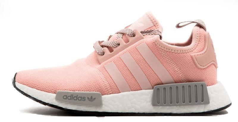 Кроссовки Adidas NMD R1 (Pink/Grey) фото в «GetKeds»