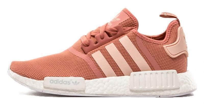 Кроссовки Adidas NMD R1 (Pink/White) фото в «GetKeds»