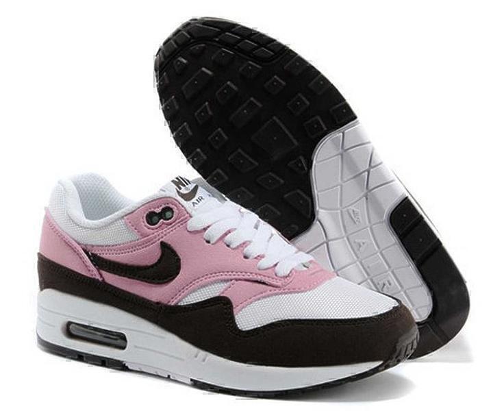 Кроссовки Nike Air Max 1 (87) (Pink/Brown/White) фото в «GetKeds»