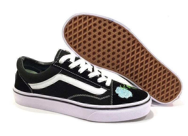Кеды Vans Old Skool (Black/White/Mint) фото в «GetKeds»