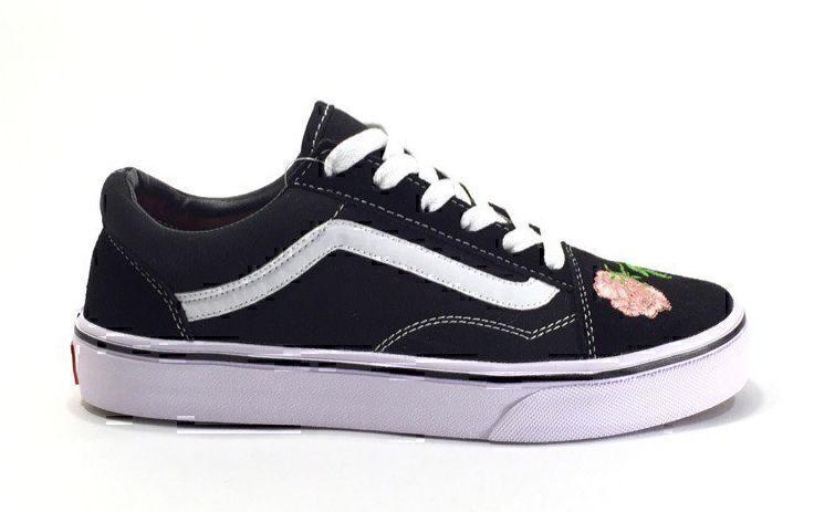 Vans Old Skool (Black/White/Pink) фото #2 в «GetKeds»