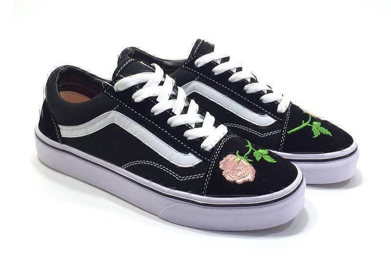 Vans Old Skool (Black/White/Pink) фото #3 в «GetKeds»