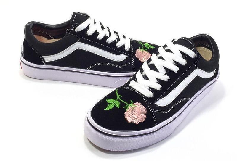 Vans Old Skool (Black/White/Pink) фото #4 в «GetKeds»