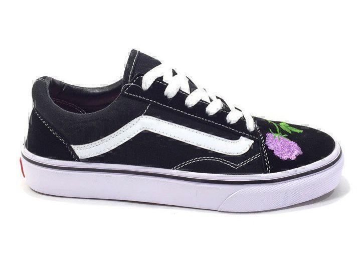 Vans Old Skool (Black/White/Rose) фото #2 в «GetKeds»