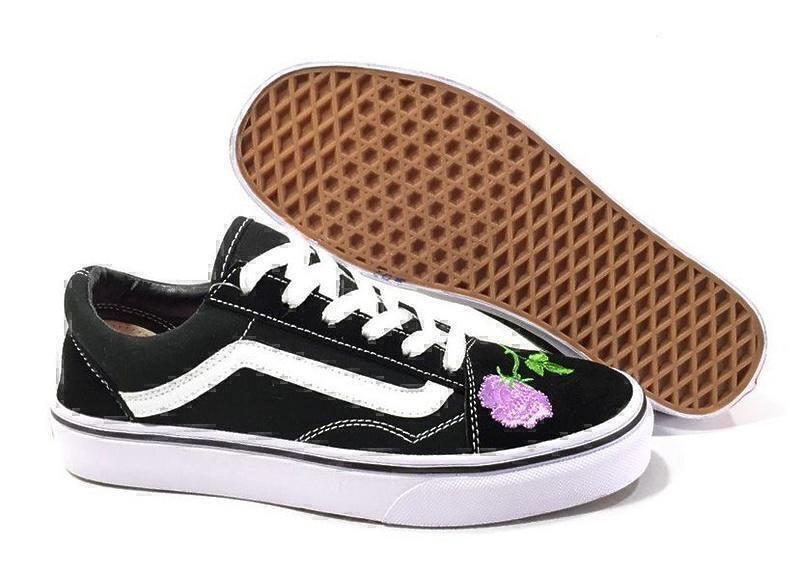 Кеды Vans Old Skool (Black/White/Rose) фото в «GetKeds»