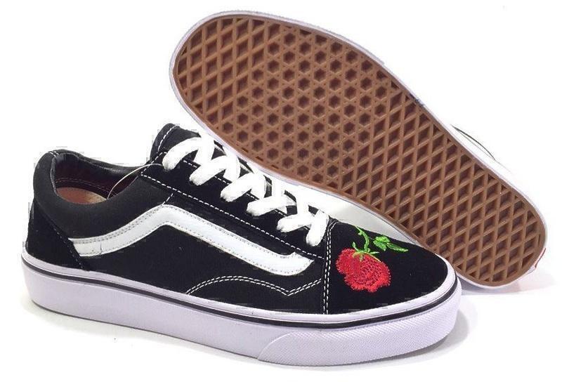Кеды Vans Old Skool (Black/Red) фото в «GetKeds»