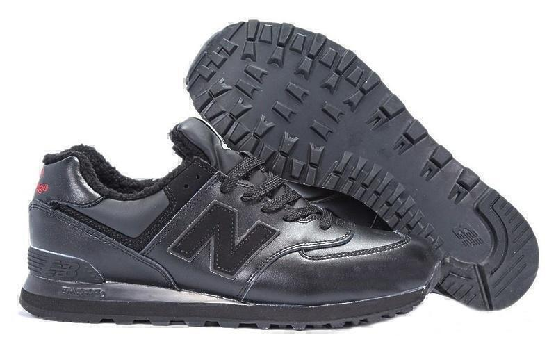 Кроссовки New Balance 574 With Fur (Triple Black) фото в «GetKeds»