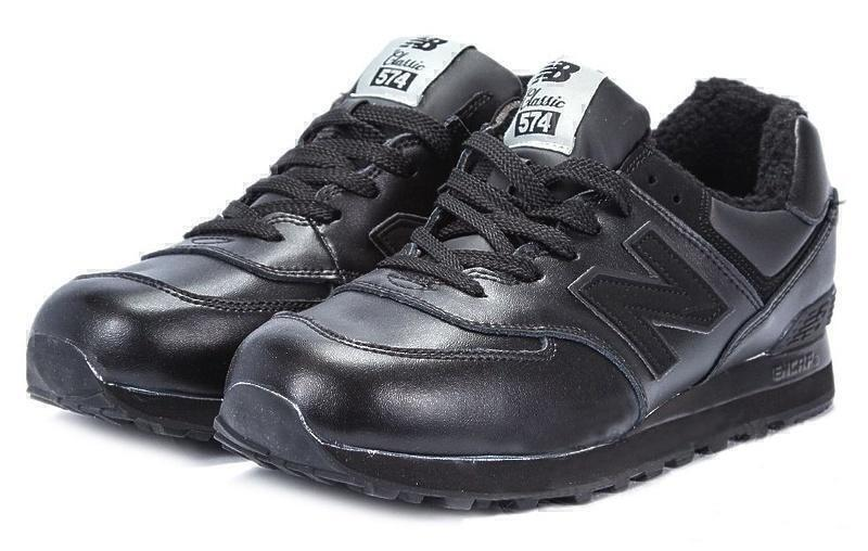 New Balance 574 With Fur (Triple Black) фото #2 в «GetKeds»