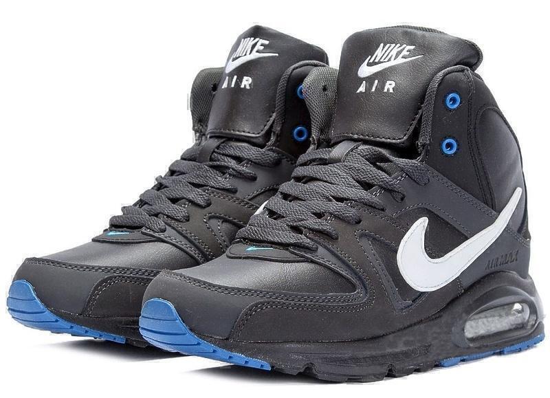 Nike Air Max Skyline High with Fur (Black/White/Blue) фото #2 в «GetKeds»