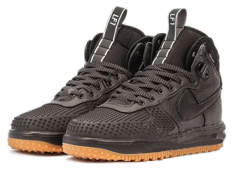 Nike Lunar Force 1 Duckboot (Black/Black Metallic) фото #2 в «GetKeds»