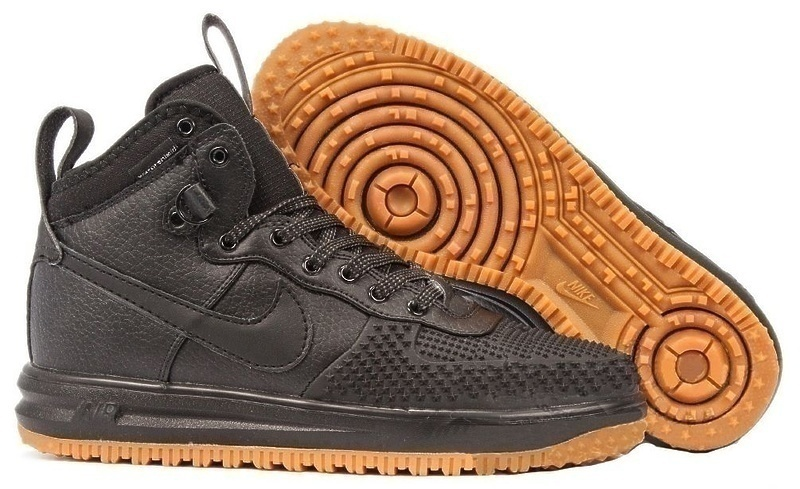 Кроссовки Nike Lunar Force 1 Duckboot (Black/Black Metallic) фото в «GetKeds»