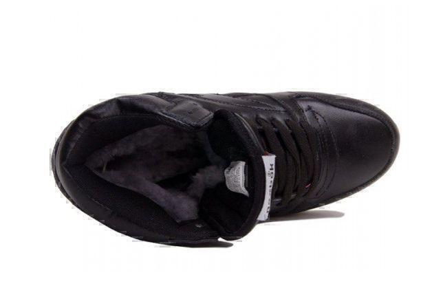 Reebok Classic Leather High With Fur (All Black) фото #3 в «GetKeds»
