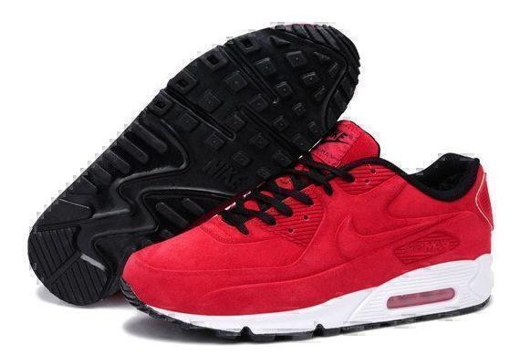 Кроссовки Nike Air Max 90 VT With Fur (Red/White) фото в «GetKeds»