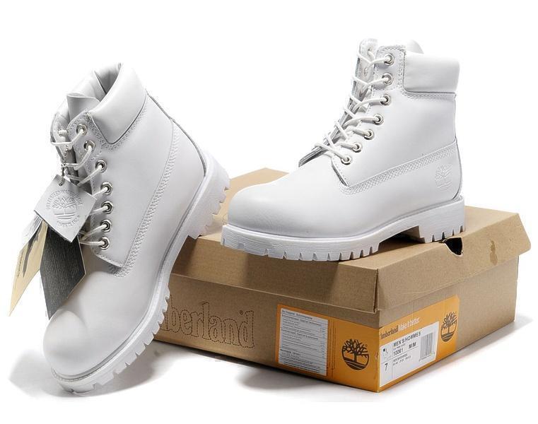 Timberland 6 Inch Premium Waterproof Boots (Ghost White) фото #4 в «GetKeds»