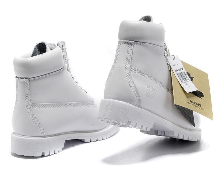 Timberland 6 Inch Premium Waterproof Boots (Ghost White) фото #3 в «GetKeds»