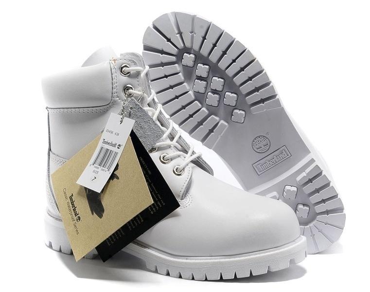 Timberland 6 Inch Premium Waterproof Boots (Ghost White) фото #2 в «GetKeds»