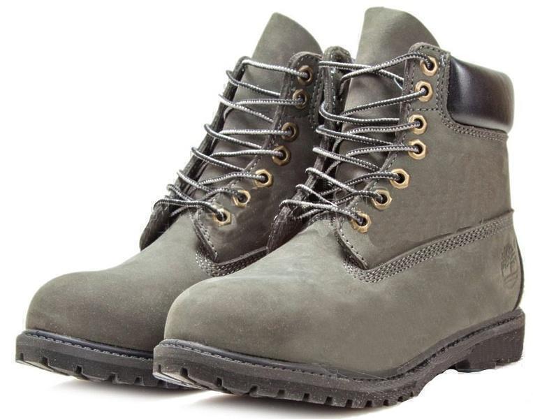Timberland 6 Inch Premium Waterproof Boots (Olive Nubuck) фото #2 в «GetKeds»