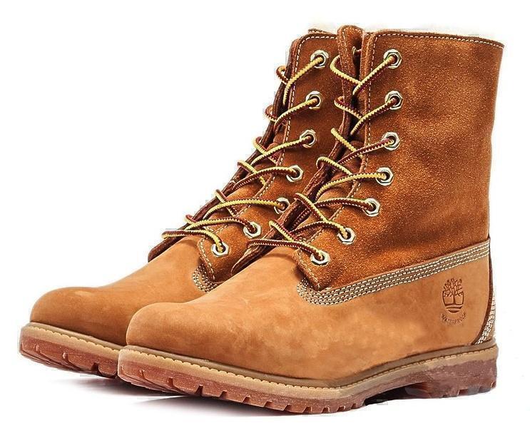 Ботинки Timberland Teddy Fleece (Wheat Nubuck) (C мехом) фото в «GetKeds»