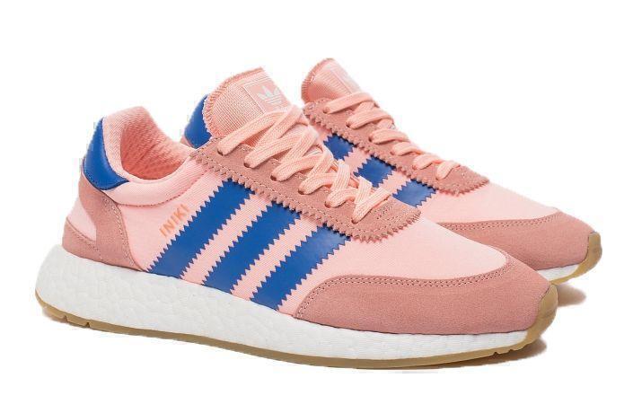 Кроссовки Adidas Iniki Runner Boost (Coral/Blue) фото в «GetKeds»