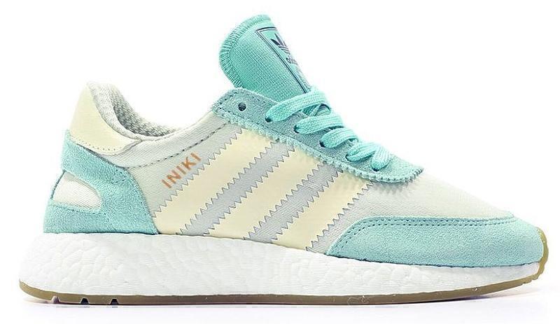 Кроссовки Adidas Iniki Runner Boost (Mint/White) фото в «GetKeds»