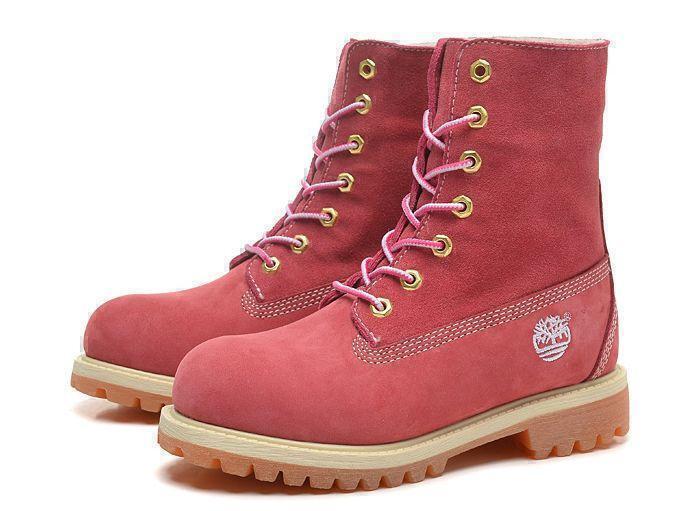 Ботинки Timberland Teddy Fleece (Pink) (C мехом) фото в «GetKeds»