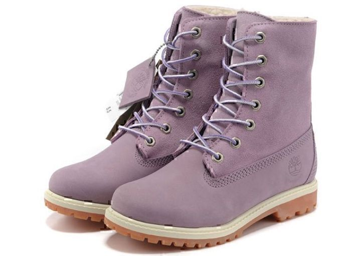 Ботинки Timberland Teddy Fleece (Purple) (C мехом) фото в «GetKeds»