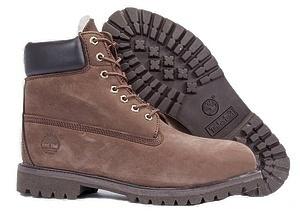 Ботинки Timberland Classic (Dark Chocolate Nubuck) (C мехом)-RT3314GK