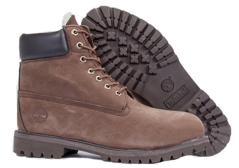 Ботинки Timberland Classic (Dark Chocolate Nubuck) (C мехом) фото в «GetKeds»