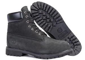 Ботинки Timberland Classic (Black Nubuck) (C мехом)-RT3316GK