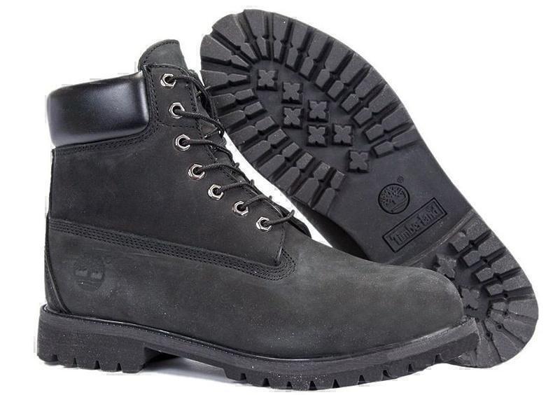 Ботинки Timberland Classic (Black Nubuck) (C мехом) фото в «GetKeds»