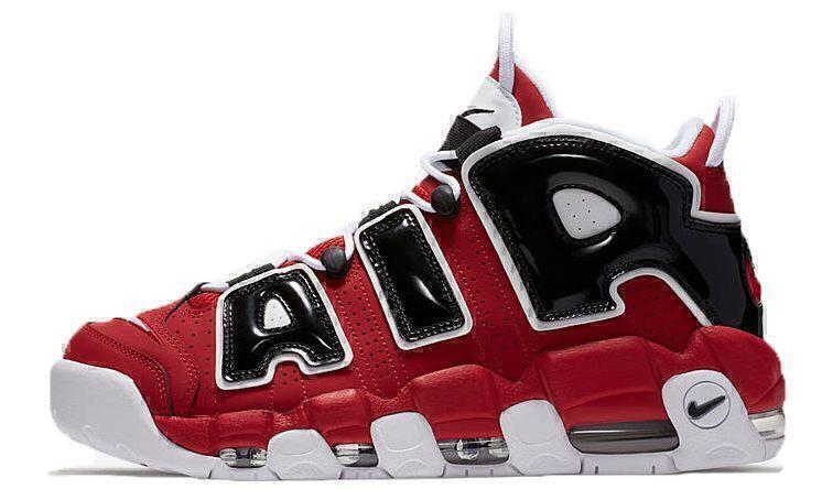 Nike Air More Uptempo Chicago Bulls (Red/White/Black) фото #2 в «GetKeds»