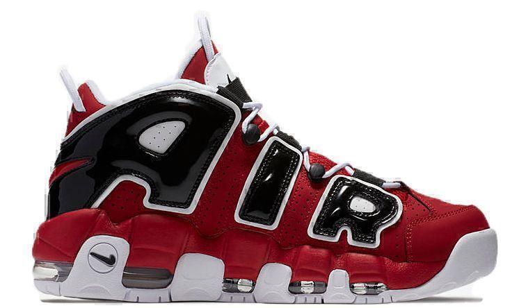 Nike Air More Uptempo Chicago Bulls (Red/White/Black) фото #3 в «GetKeds»